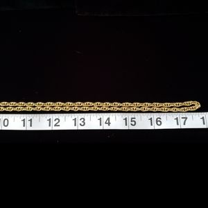Cookie Lee Jewelry - Gold Tone Necklace Extra Long Multi Chain Linked